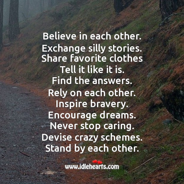 True friends believe in each other. Friendship Day Messages Image