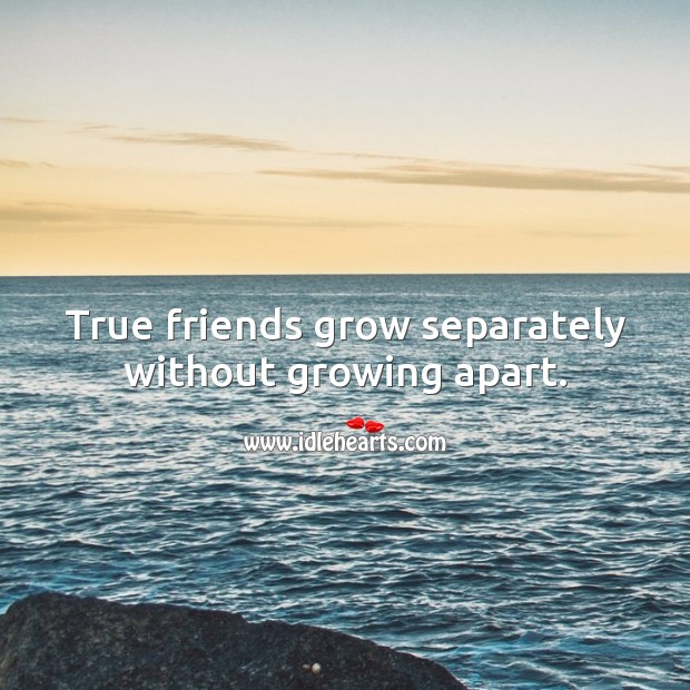 True friends grow separately without growing apart. Friendship Messages Image