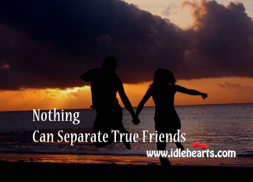 Image, Nothing can separate true friends