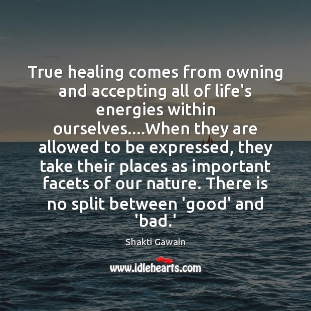 True healing comes from owning and accepting all of life's energies within Image
