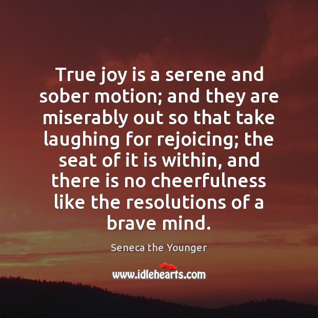 True joy is a serene and sober motion; and they are miserably True Joy Quotes Image