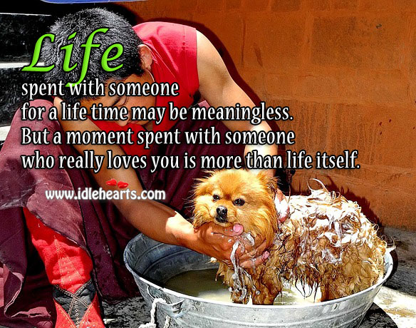 A Moment Spent With Someone Who Really Loves You Is More Than Life