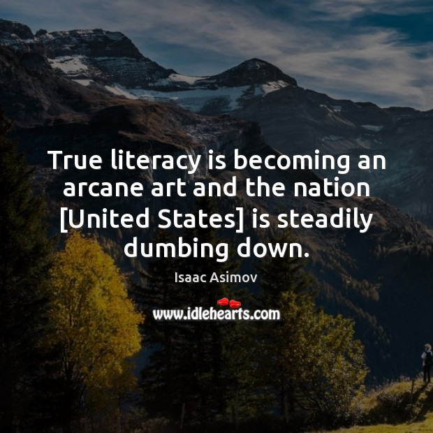 Image, True literacy is becoming an arcane art and the nation [United States]