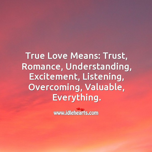 Image, True love – What is true love?
