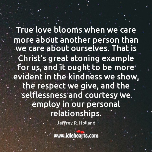 Image, True love blooms when we care more about another person than we