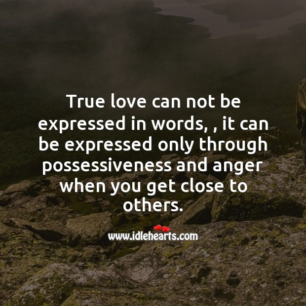 True love can not be expressed in words. True Love Quotes Image