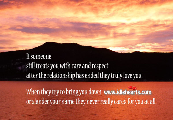 True love is when you care and respect Respect Quotes Image