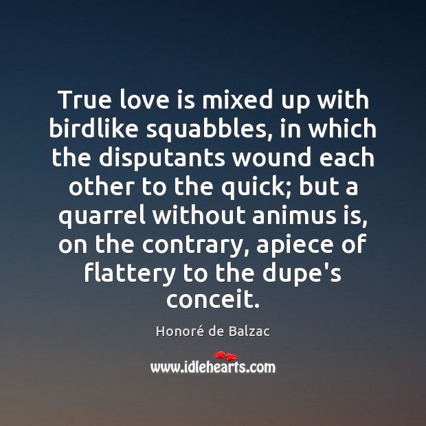 Image, True love is mixed up with birdlike squabbles, in which the disputants