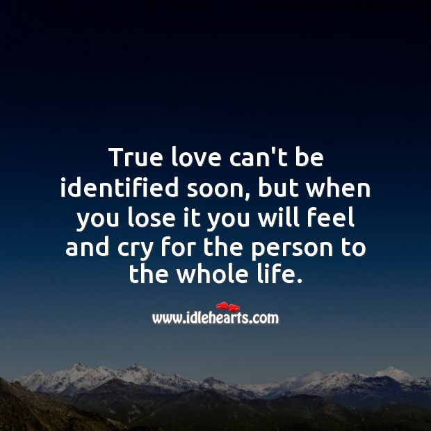 Image, True love lost makes you feel and cry for whole life.