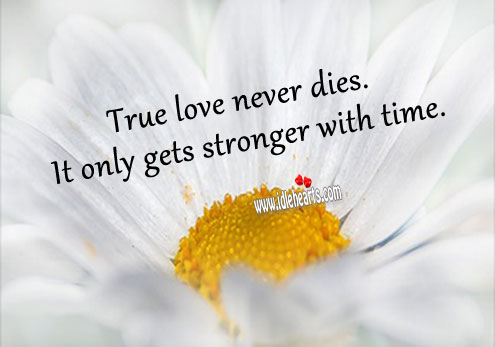 Image, True love never dies. It only gets stronger with time.