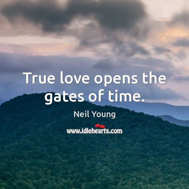 True love opens the gates of time. Image