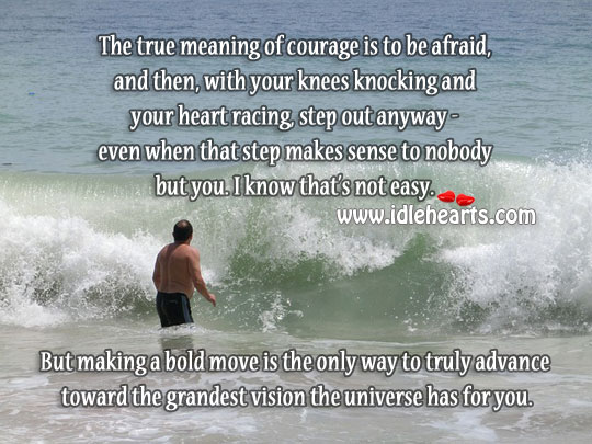 The True Meaning Of Courage Is To Be Afraid