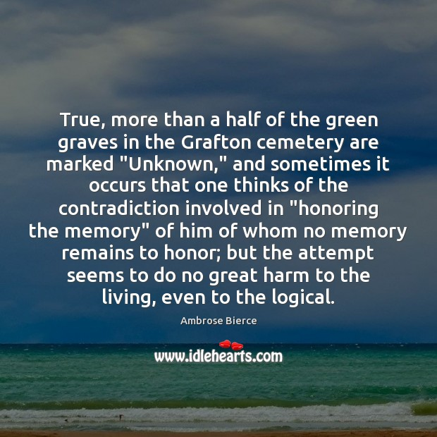 Image, True, more than a half of the green graves in the Grafton