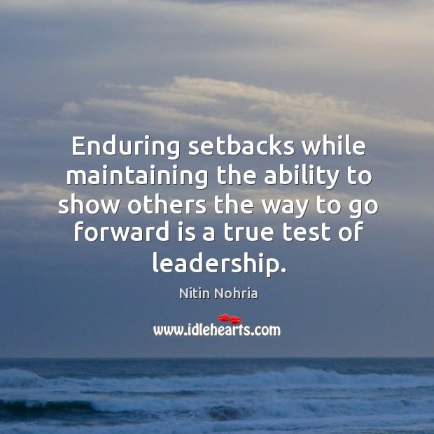True test of leadership. Image