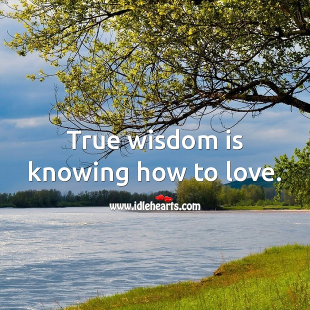 True wisdom is knowing how to love. Image