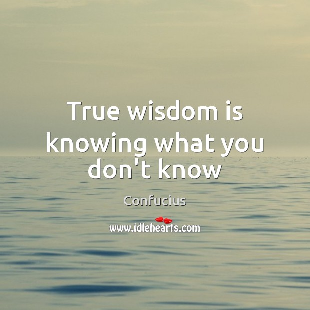 True wisdom is knowing what you don't know Image