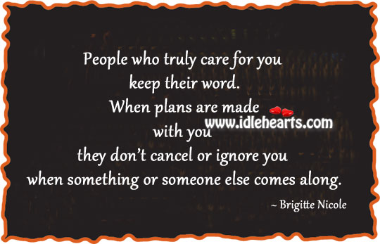 People Who Truly Care For You
