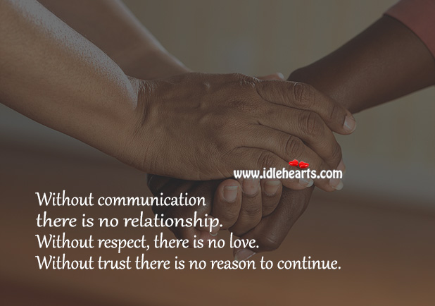 Image, Without communication there is no relationship.