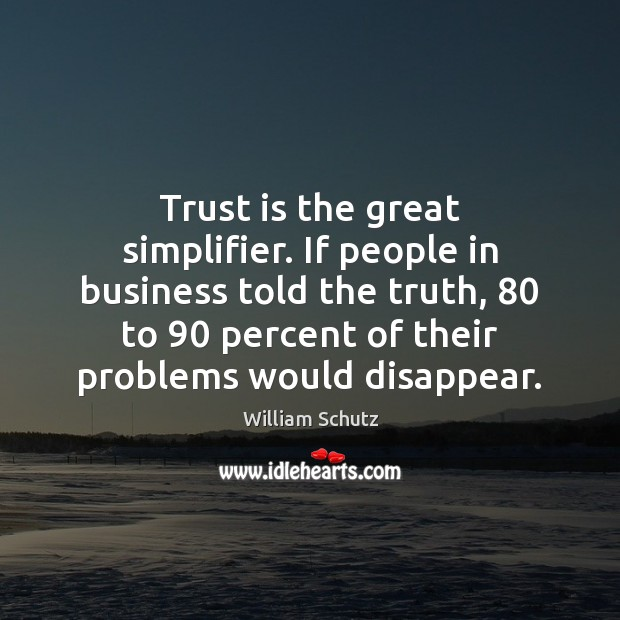 Trust is the great simplifier. If people in business told the truth, 80 Image