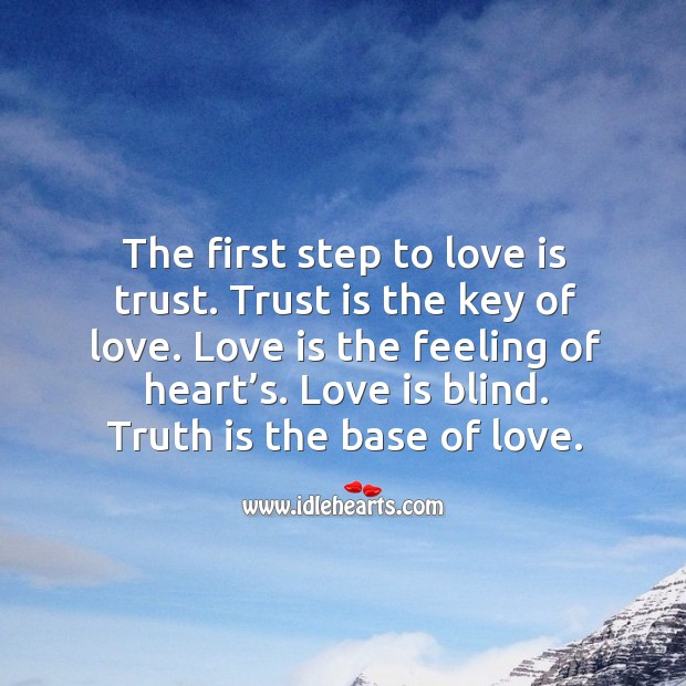 Trust is the key of love. Love Messages Image