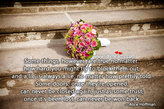 Image, Some doors, once they're opened, can never be closed again.