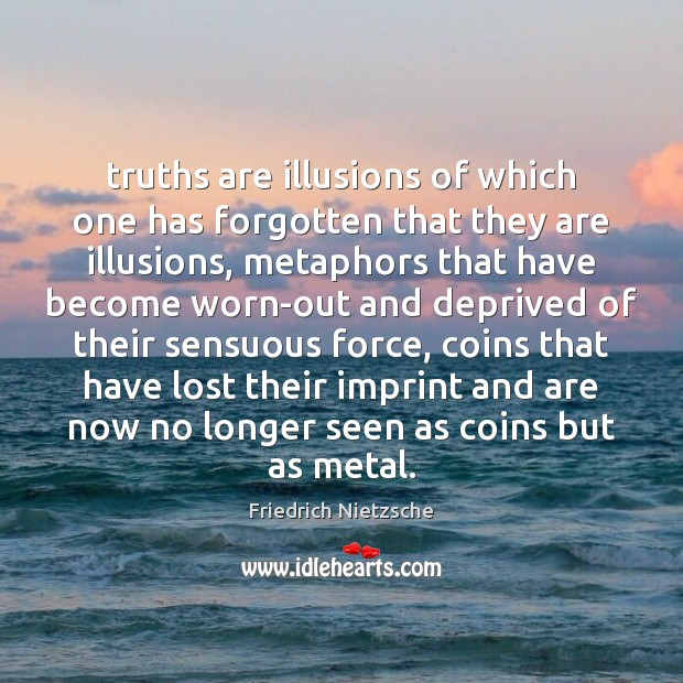 Image, Truths are illusions of which one has forgotten that they are illusions,