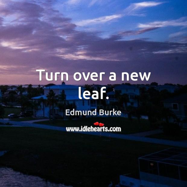 Image, Turn over a new leaf.