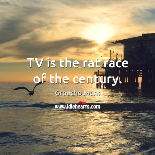 Image, TV is the rat race of the century.