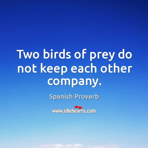Image, Two birds of prey do not keep each other company.
