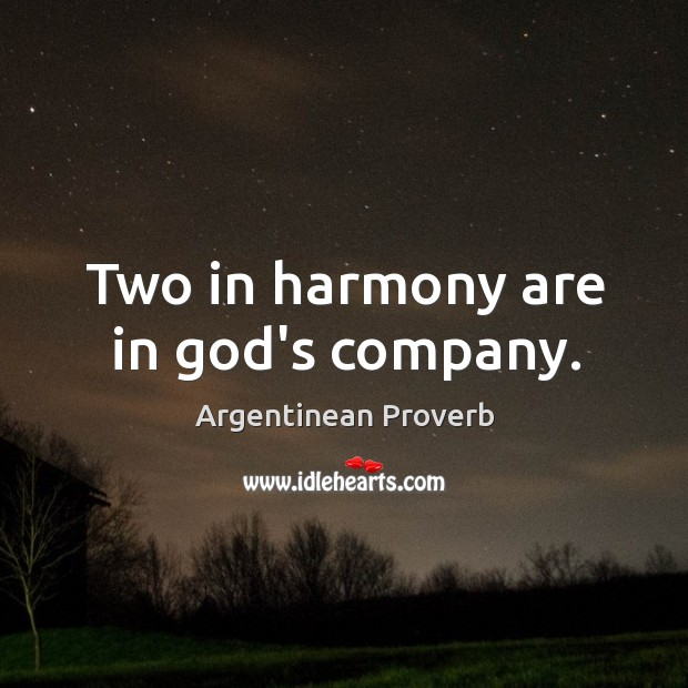 Image, Two in harmony are in god's company.