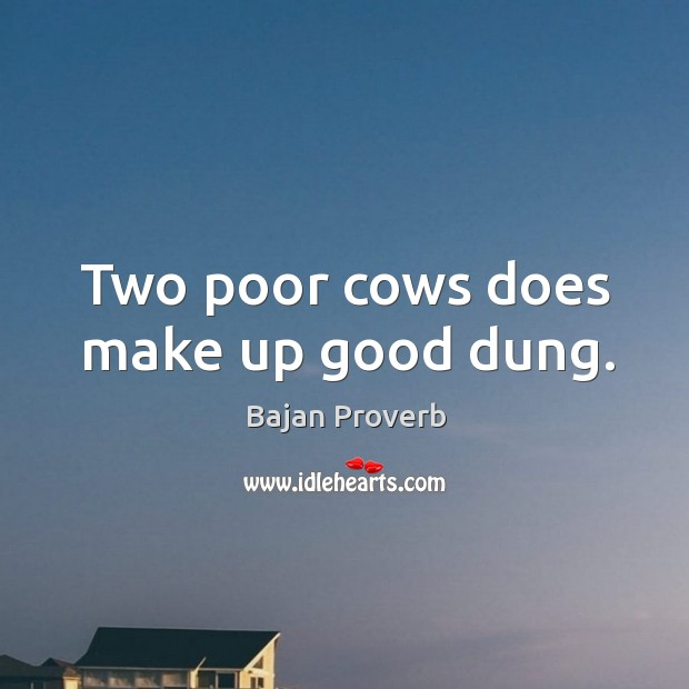 Image, Two poor cows does make up good dung.