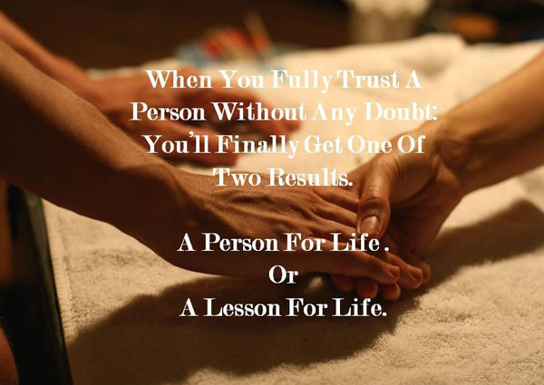 When You Fully Trust A Person Without Any Doubt