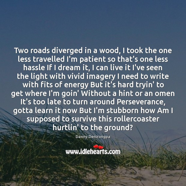 Two roads diverged in a wood, I took the one less travelled Image