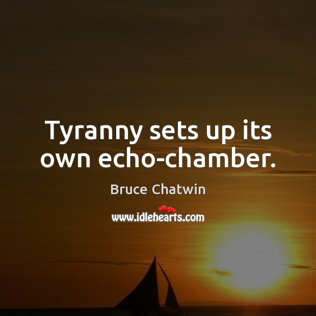 Image, Tyranny sets up its own echo-chamber.