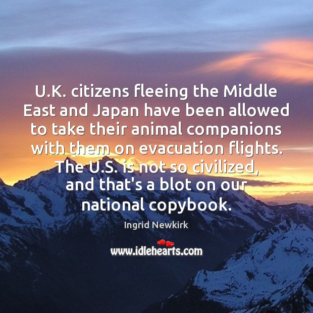U.K. citizens fleeing the Middle East and Japan have been allowed Image