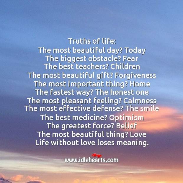 Ultimate truth of life Gift Quotes Image