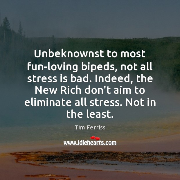 Image, Unbeknownst to most fun-loving bipeds, not all stress is bad. Indeed, the