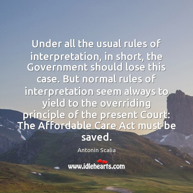 Under all the usual rules of interpretation, in short, the Government should Image
