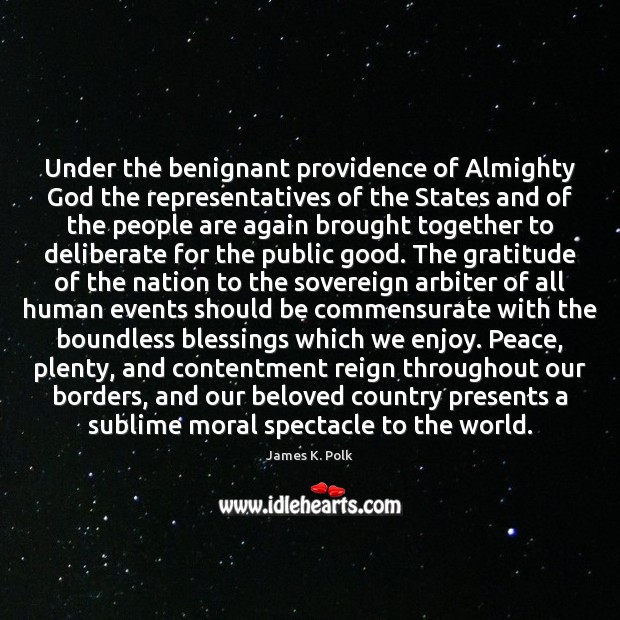 Image, Under the benignant providence of Almighty God the representatives of the States