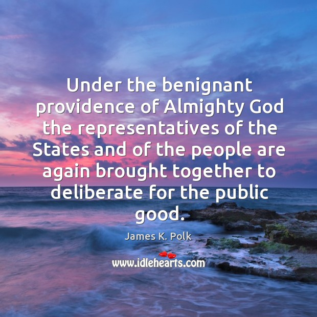 Under the benignant providence of Almighty God the representatives of the States Image