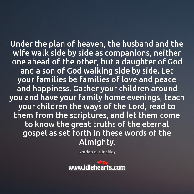 Image, Under the plan of heaven, the husband and the wife walk side