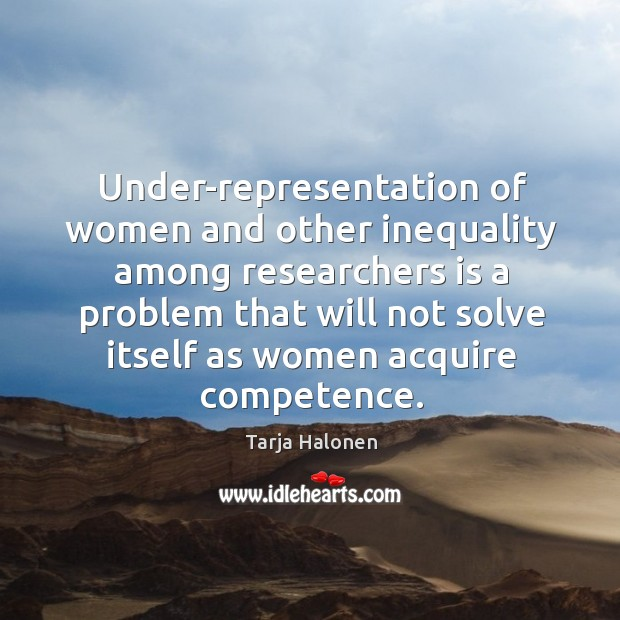 Under-representation of women and other inequality among researchers is a problem Image