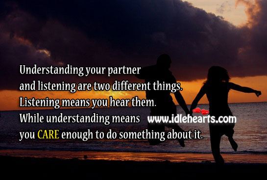 Image, Understand your partner