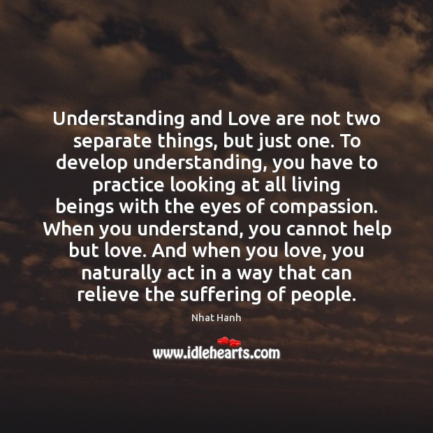 Image, Understanding and Love are not two separate things, but just one. To