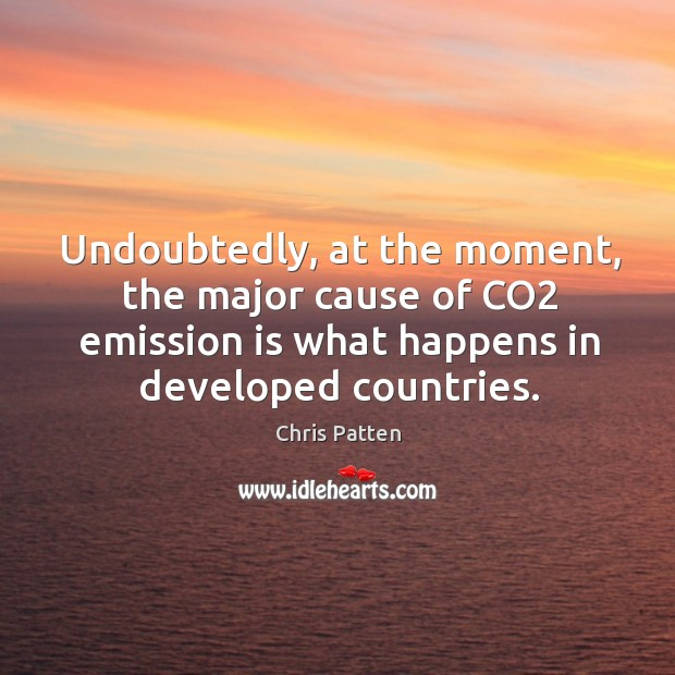 Undoubtedly, at the moment, the major cause of co2 emission is what happens in developed countries. Image