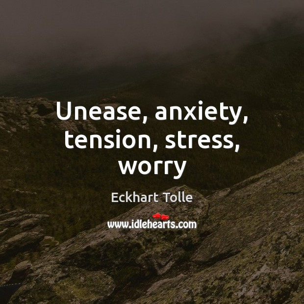 Image, Unease, anxiety, tension, stress, worry