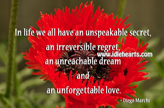 In Life We All Have An Unspeakable Secret, Unforgettable Love.
