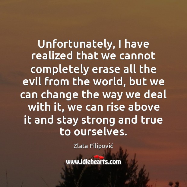 Unfortunately, I have realized that we cannot completely erase all the evil Image