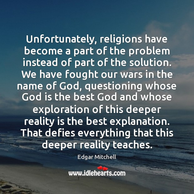 Image, Unfortunately, religions have become a part of the problem instead of part
