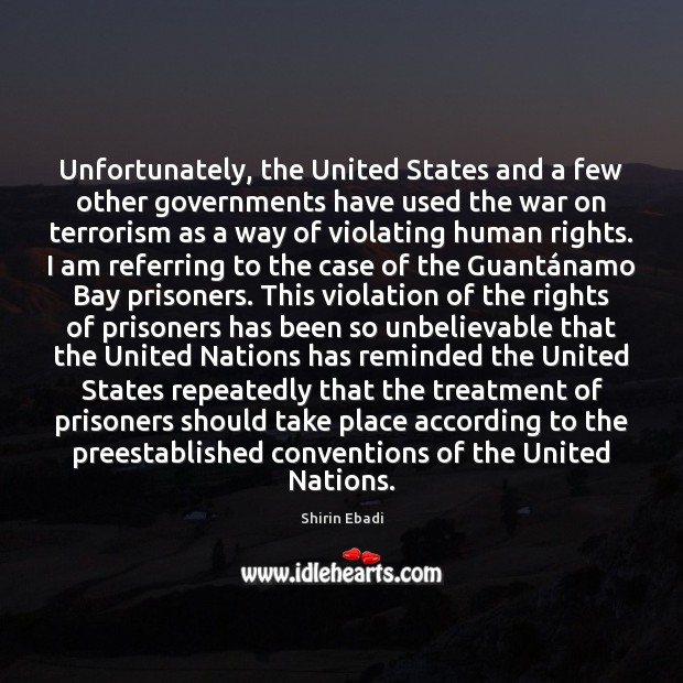 Image, Unfortunately, the United States and a few other governments have used the